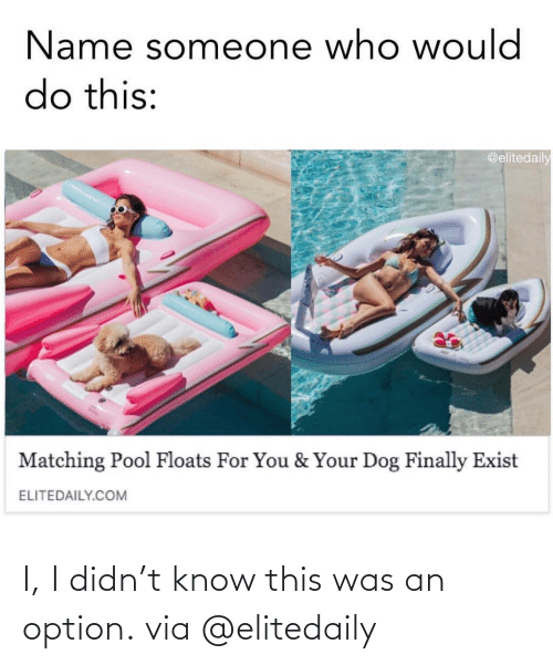 know: I, I didn't know this was an option.via @elitedaily