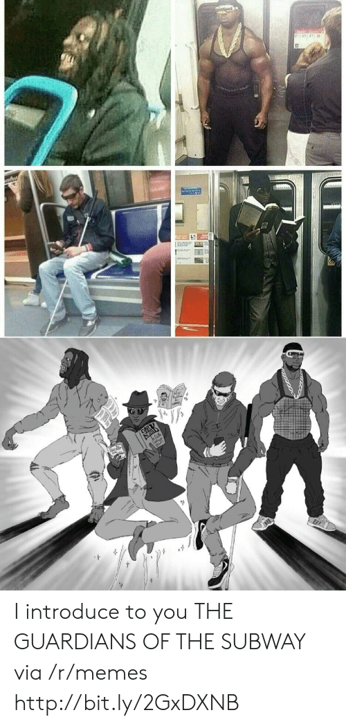 Guardians: I introduce to you THE GUARDIANS OF THE SUBWAY via /r/memes http://bit.ly/2GxDXNB