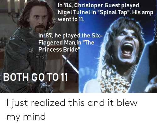 Blew: I just realized this and it blew my mind