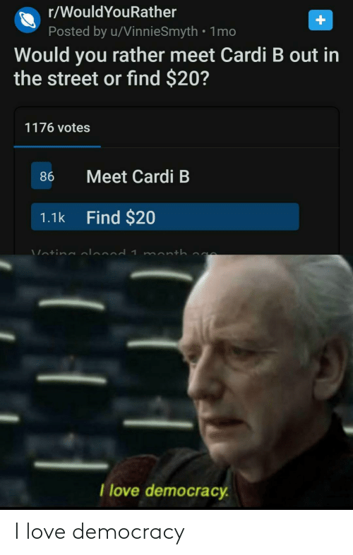 I Love: I love democracy