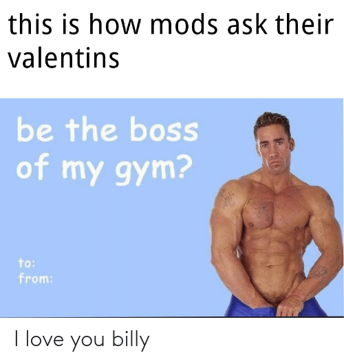 I Love You: I love you billy