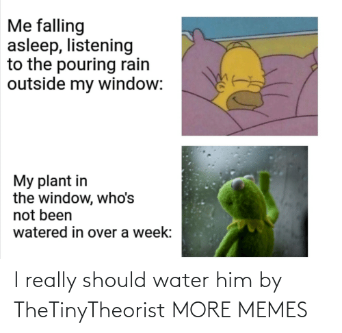 Should: I really should water him by TheTinyTheorist MORE MEMES