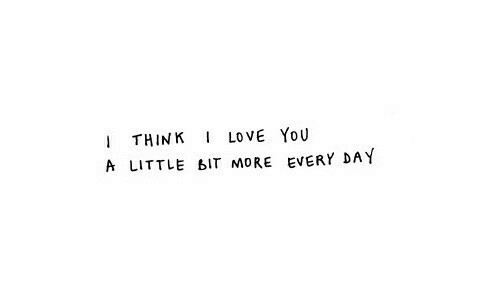 I Love You: I THINK I LOVE YOU  A LITTLE BIT MORE EVERY DAY