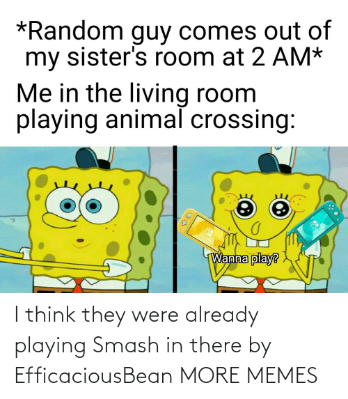 playing: I think they were already playing Smash in there by EfficaciousBean MORE MEMES