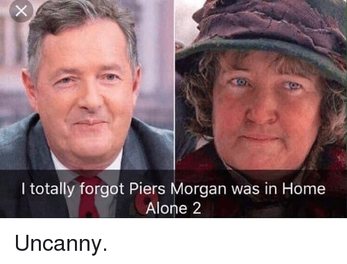 Home Alone 2: I totally forgot Piers Morgan was in Home  Alone 2 Uncanny.