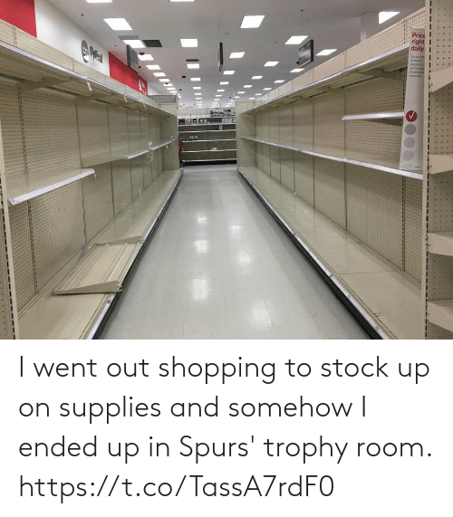 Ended: I went out shopping to stock up on supplies and somehow I ended up in Spurs' trophy room. https://t.co/TassA7rdF0