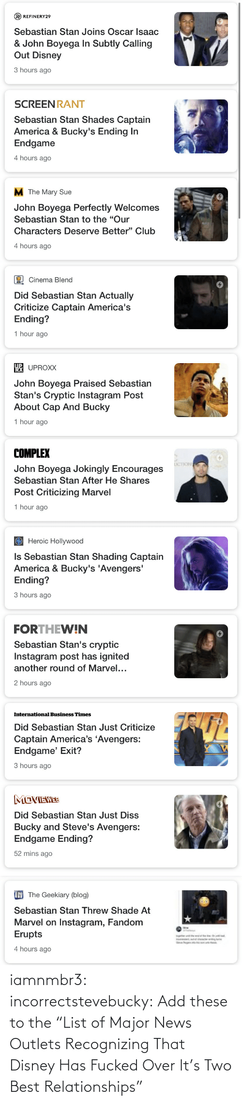 "major: iamnmbr3:  incorrectstevebucky: Add these to the ""List of Major News Outlets Recognizing That Disney Has Fucked Over It's Two Best Relationships"""