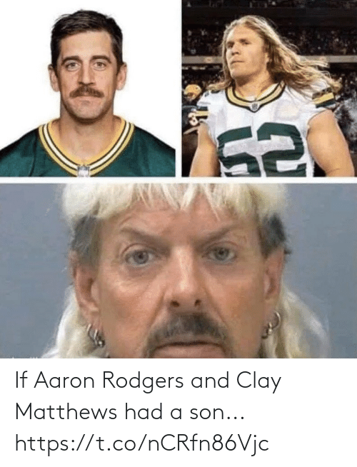 And: If Aaron Rodgers and Clay Matthews had a son... https://t.co/nCRfn86Vjc