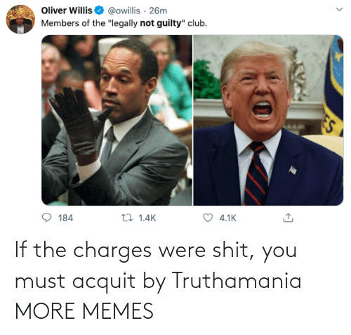 shit: If the charges were shit, you must acquit by Truthamania MORE MEMES