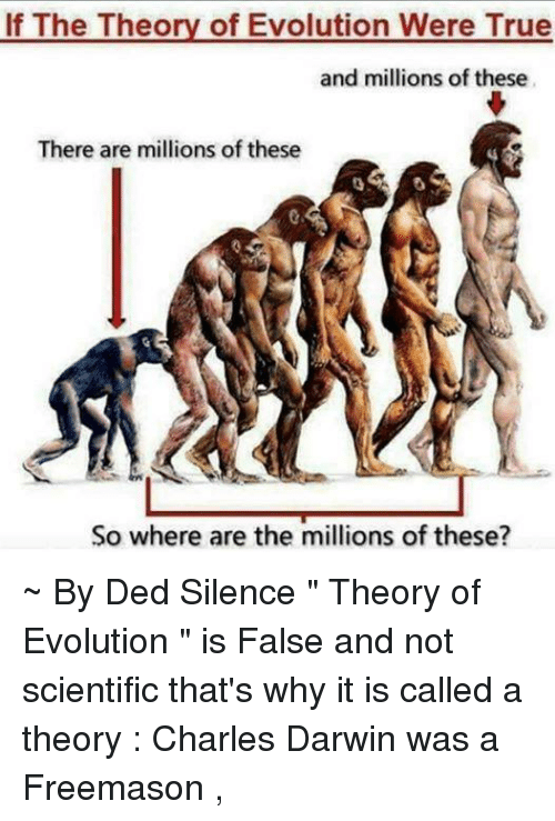 is evolution a true theory The theory of evolution is false it is simply not true actually, it is just a fairy tale for adults based on ancient pagan religious philosophy that hundreds of millions of people around the world choose to believe with blind faith.