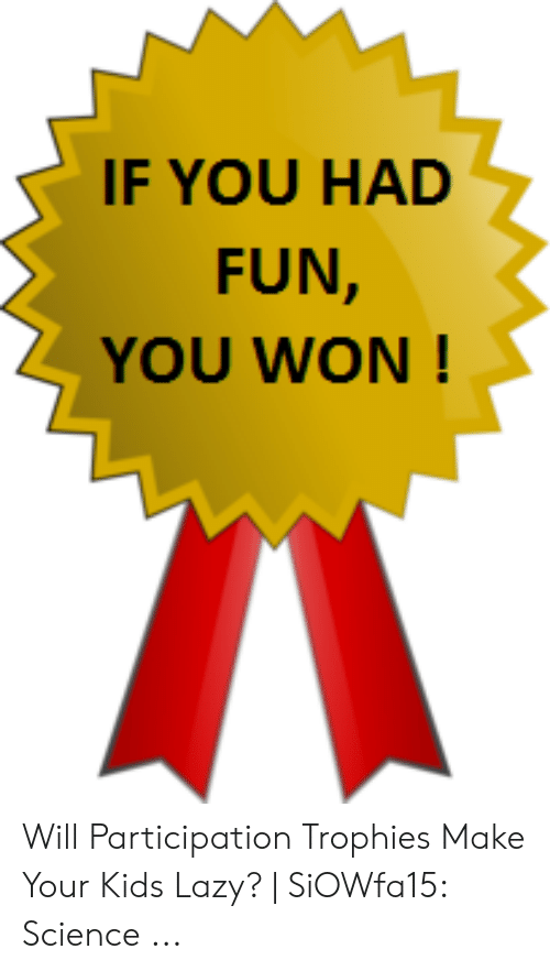 Participation If You Had Fun You Won Award Medal