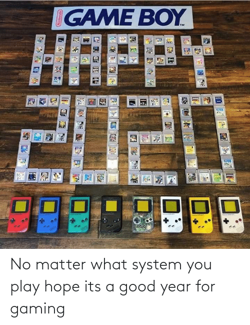 Gaming: IGAME BOY  HAPPY  2020 No matter what system you play hope its a good year for gaming