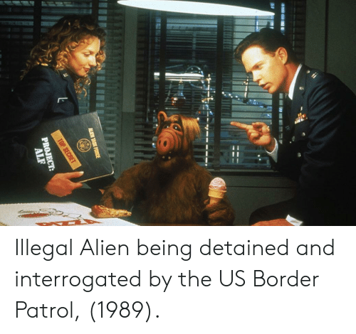 Illegal Alien: Illegal Alien being detained and interrogated by the US Border Patrol, (1989).