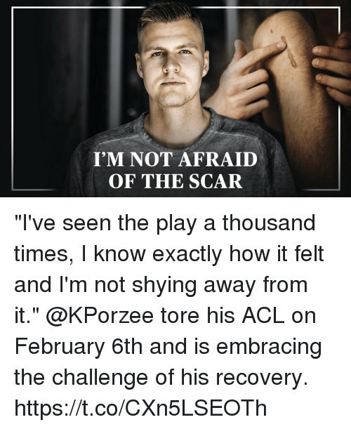 "Memes, The Play, and 🤖: I'M NOT AFRAID  OF THE SCAR ""I've seen the play a thousand times, I know exactly how it felt and I'm not shying away from it.""  @KPorzee tore his ACL on February 6th and is embracing the challenge of his recovery. https://t.co/CXn5LSEOTh"