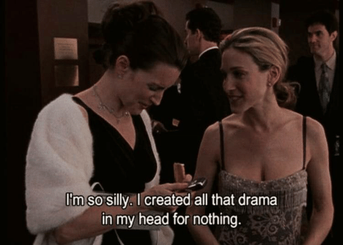 Head, All That, and Drama: I'm so silly, I created all that drama  in my head for nothing.