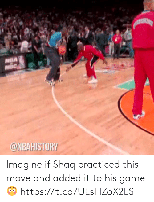 move: Imagine if Shaq practiced this move and added it to his game 😳 https://t.co/UEsHZoX2LS