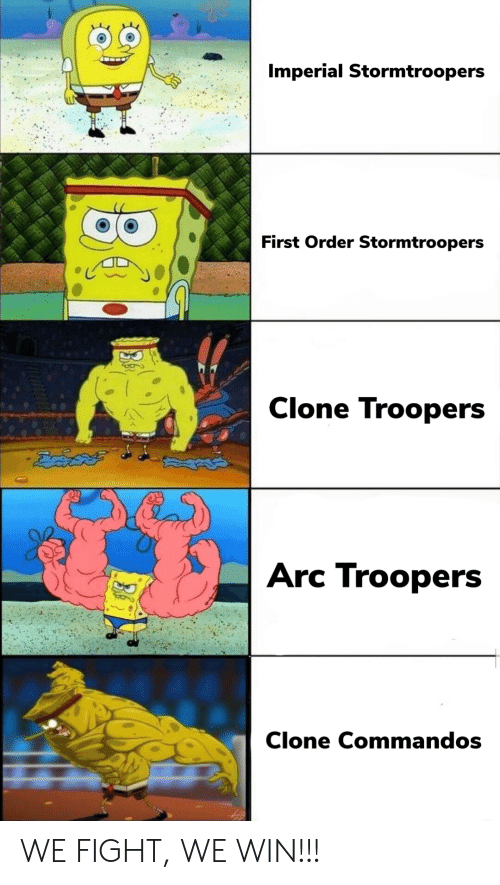 commandos: Imperial Stormtroopers  First Order Stormtroopers  Clone Troopers  ఔవిదత్  Arc Troopers  Clone Commandos WE FIGHT, WE WIN!!!