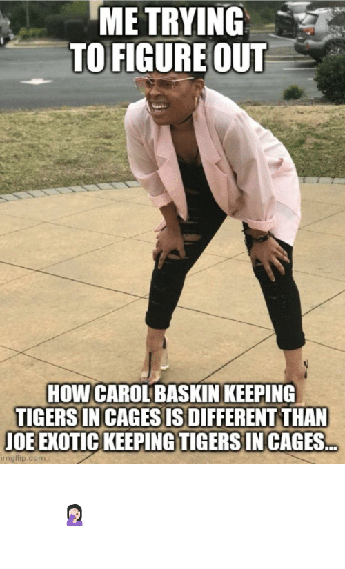 Important: Important question of the day 🤦🏻‍♀️ #TigerKing #CaroleBaskin #JoeExotic