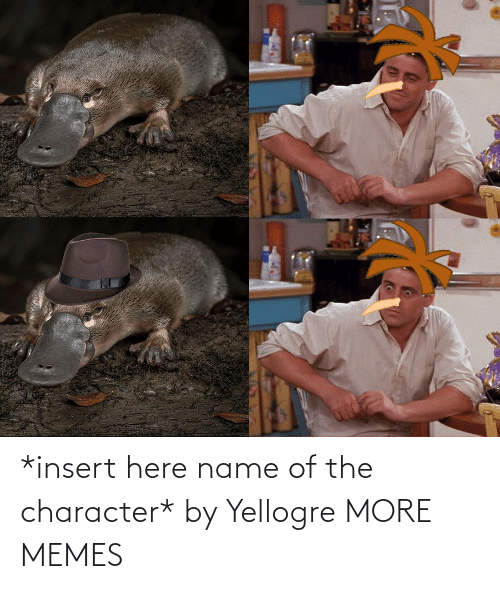 Insert: *insert here name of the character* by Yellogre MORE MEMES