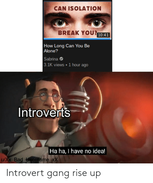 Gang: Introvert gang rise up