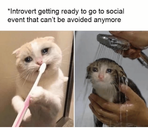 Introvert, Social, and Event: *Introvert getting ready to go to social  event that can't be avoided anymore