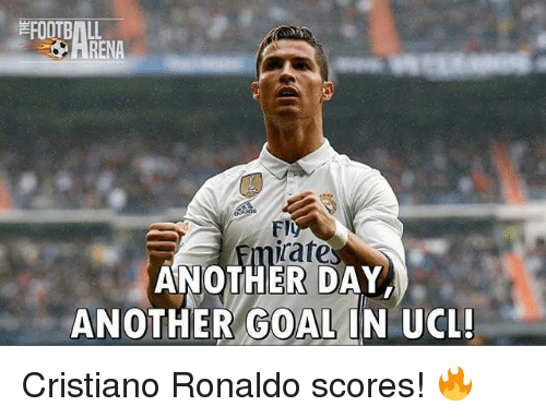 Irate: irate  ANOTHER DAY  ANOTHER GOAL IN UCL! Cristiano Ronaldo scores! 🔥