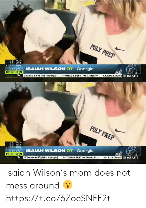 around: Isaiah Wilson's mom does not mess around 😮 https://t.co/6ZoeSNFE2t