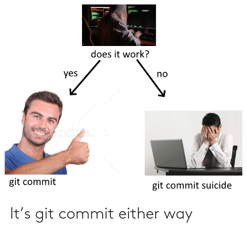 Commit: It's git commit either way