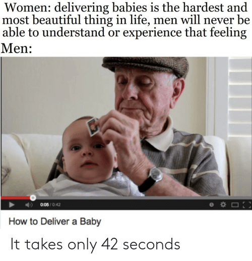 Takes: It takes only 42 seconds