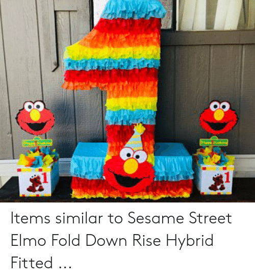 Items Similar To Sesame Street Elmo Fold Down Rise Hybrid Fitted