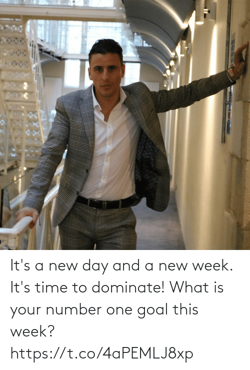 Goal: It's a new day and a new week. It's time to dominate! What is your number one goal this week? https://t.co/4aPEMLJ8xp