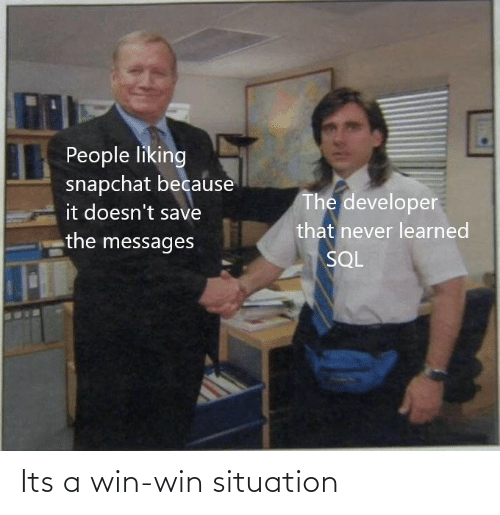 Its A: Its a win-win situation