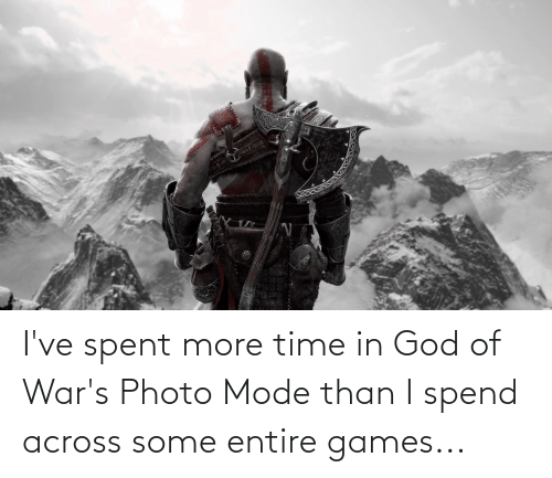 more: I've spent more time in God of War's Photo Mode than I spend across some entire games...