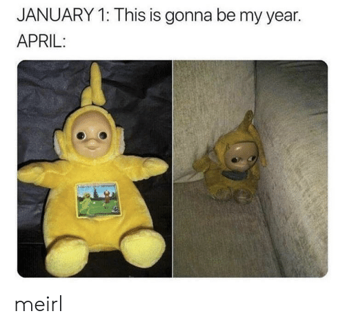 April, MeIRL, and This: JANUARY 1: This is gonna be my year.  APRIL: meirl