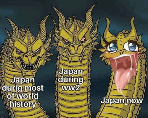 History, Japan, and World: Japan  during  ww2  Japan  durig-most  of world  history  Japan now  ARSON  2019