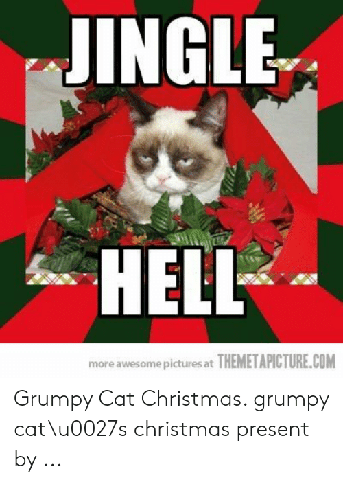 Grumpy Cat Christmas.Jingle Hell More Awesome Pictures At Themetapicturecom
