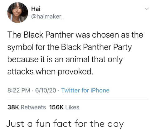 For The: Just a fun fact for the day