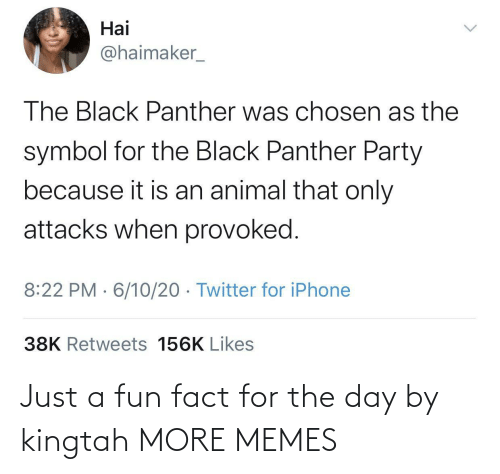 For The: Just a fun fact for the day by kingtah MORE MEMES