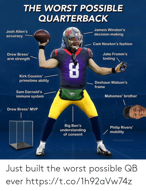 sports: Just built the worst possible QB ever https://t.co/1h92aVw74z
