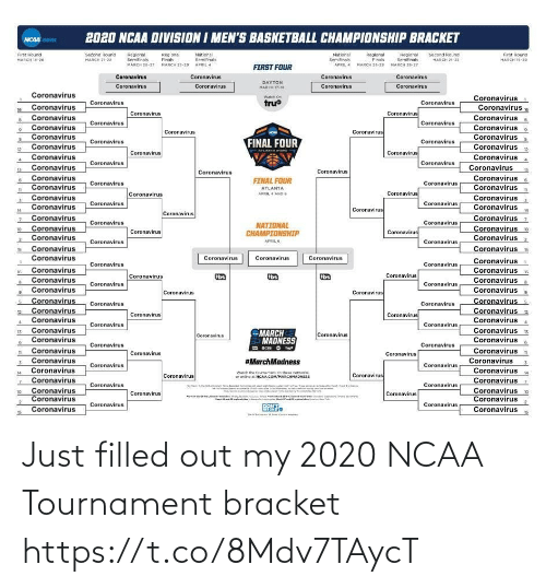 sports: Just filled out my 2020 NCAA Tournament bracket https://t.co/8Mdv7TAycT