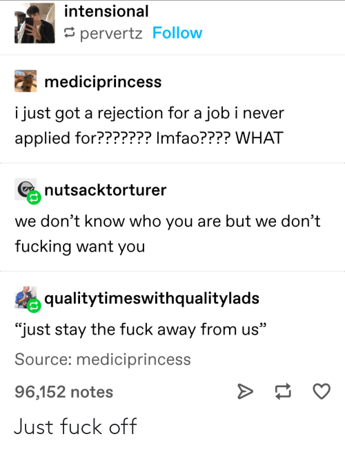 Off: Just fuck off