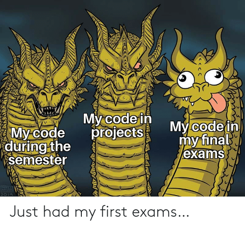 My First: Just had my first exams…