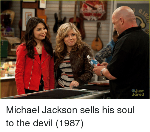 Michael Jackson, Devil, and Jared: Just  Jared Michael Jackson sells his soul to the devil (1987)