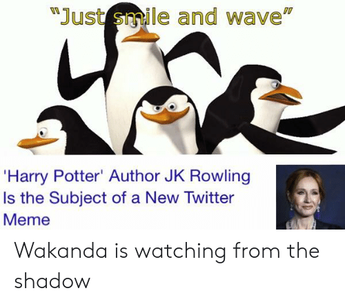Just Smile and Wave 'Harry Potter' Author JK Rowling Is the