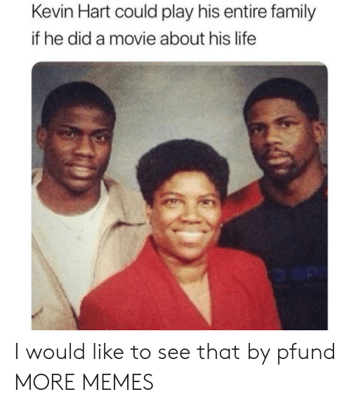 Kevin Hart: Kevin Hart could play his entire family  if he did a movie about his life I would like to see that by pfund MORE MEMES