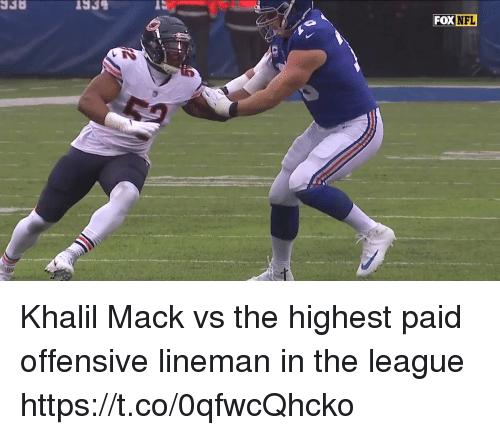 Nfl, The League, and League: Khalil Mack vs the highest paid offensive lineman in the league  https://t.co/0qfwcQhcko
