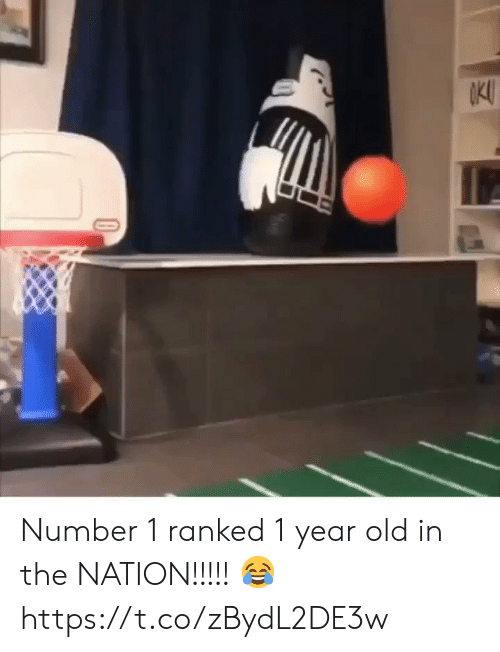 Memes, Old, and 🤖: kl Number 1 ranked 1 year old in the NATION!!!!! 😂 https://t.co/zBydL2DE3w
