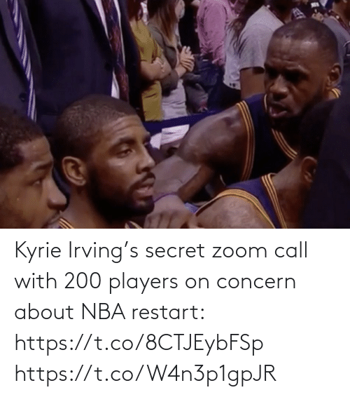 Zoom: Kyrie Irving's secret zoom call with 200 players on concern about NBA restart: https://t.co/8CTJEybFSp https://t.co/W4n3p1gpJR