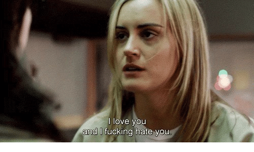 Fucking, Love, and You: l love you  and I fucking hate vou