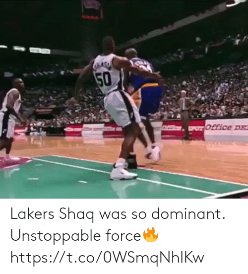 🤖: Lakers Shaq was so dominant. Unstoppable force🔥 https://t.co/0WSmqNhIKw